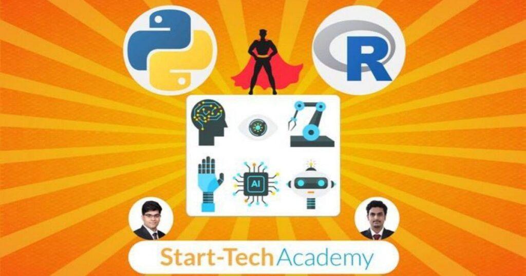 دورة التعلم الآلي والتعلم العميق في Python & R.